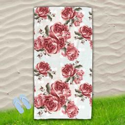 Постелка за Плаж - Червени рози