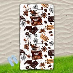 Постелка за Плаж - Кафе и ванилия