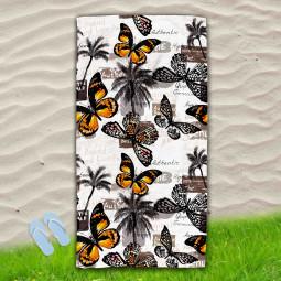 Постелка за Плаж - Пеперуди и палми