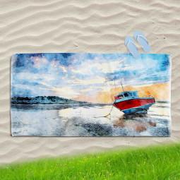 Постелка за Плаж - Самотна лодка