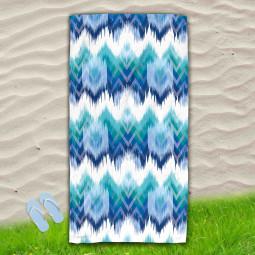 Постелка за Плаж - Синьо и зелено