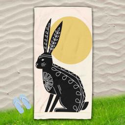 Постелка за Плаж - Абстрактен заек