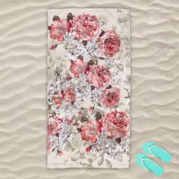 Плажна хавлиена кърпа - Старинна роза