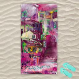 Плажна хавлиена кърпа - Пробуждане