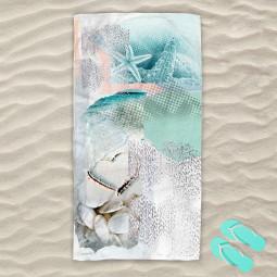 Плажна хавлиена кърпа - Любов и море
