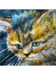 Плажна хавлиена кърпа - Синьо коте
