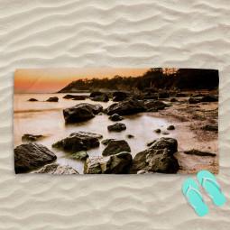 Плажна хавлиена кърпа - Скален бряг