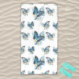Плажна хавлиена кърпа - Пеперуди
