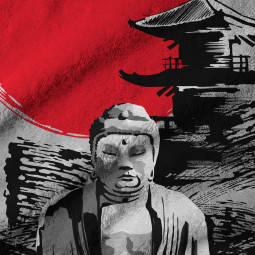Плажна хавлиена кърпа - Буда