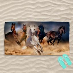 Плажна хавлиена кърпа - Коне