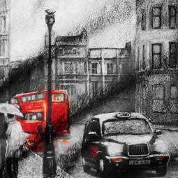 Плажна хавлиена кърпа - Лондон