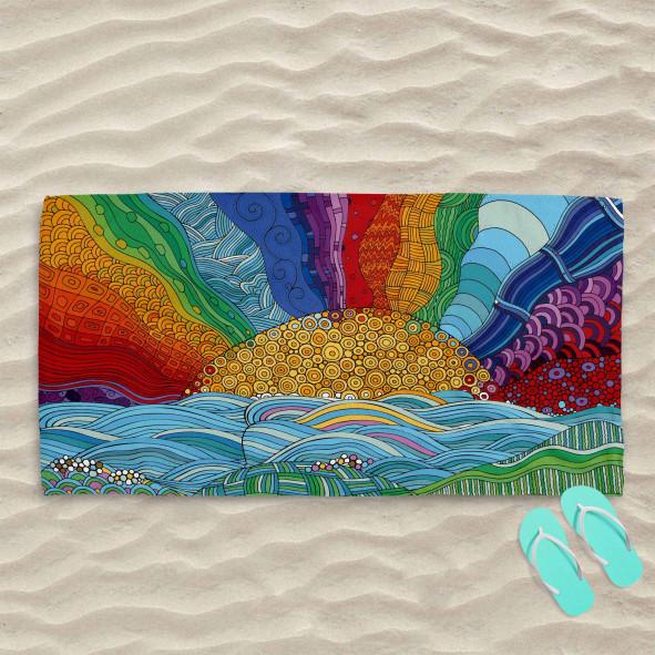 Плажна хавлиена кърпа - Слънце
