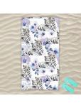 Плажна хавлиена кърпа - Бял тигър