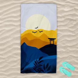Плажна хавлиена кърпа - Японски изгрев