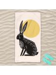 Плажна хавлиена кърпа - Абстрактен заек