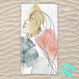 Плажна хавлиена кърпа - Жена