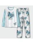Дамска пижама с дълъг ръкав - Пеперуди
