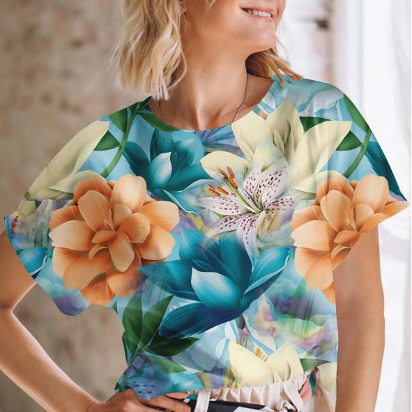 Дамска тениска с къс ръкав - Крем