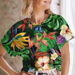 Дамска тениска с къс ръкав - Джунгла