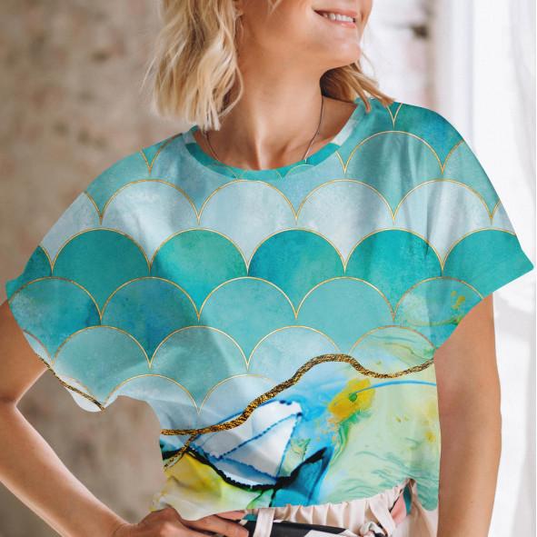 Дамска тениска с къс ръкав - Небе и море