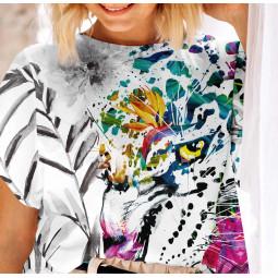 Дамска тениска с къс ръкав - Арт тигър